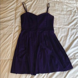 Aqua brand royal purple sundress